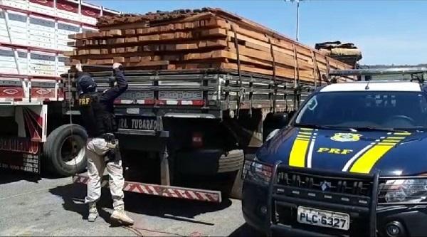 Caminhão é apreendido com 17 m³ de madeira ilegal em Barreiras - maisoeste