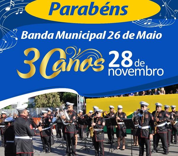 Banda Municipal 26 de Maio comemora 30 anos em Barreiras - maisoeste