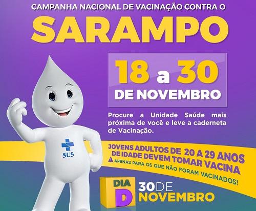 2ª etapa da vacinação contra o Sarampo começa nesta quinta em Barreiras - maisoeste
